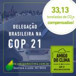 Amigo do Clima compensa emissões de GEE da delegação brasileira na COP 21